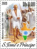 Sao Tome 2019 Mahatma Gandhi 150th Aniv 1v Stamp MNH ST190615a - Famous People