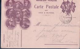 REPUBLIQUE FRANCAISE - CARTE POSTALE POUR CIVILS & MILITAIRES - Guerra 1914-18