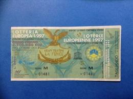1997 BIGLIETTO LOTTERIA EUROPEA E NAZIONALE UNESCO GRAN TEATRO LA FENICE - Biglietti Della Lotteria