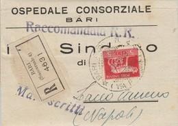 Bari. 1945. Annullo Guller BARI SUCC 4, Su Manoscitti Aperti, AffrancatI Con L. 5. Periodo Luogotenenza. BELLA. - Storia Postale