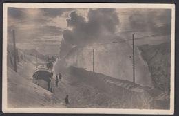 CPA  Suisse, ALP GRUM, Schneeschleudermaschine Der Berninabahn, Carte Photo 1923. - GR Grisons
