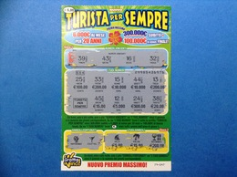 BIGLIETTO GRATTA E VINCI NUOVO TURISTA PER SEMPRE € 5,00 - Biglietti Della Lotteria
