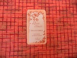 Carte PARFUM Rose Inès DELETTREZ Parfumerie Du Monde Elégant Paris - Cartes