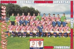 Soccer Football Euro Cup Championship Austria 2008 Postcard Croatia Team - Calcio