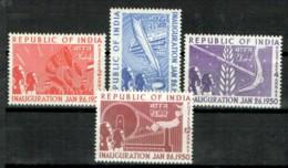 Indien 1950 Gründung Dsder Republik Michel 211 - 214 MNH - 1950-59 République