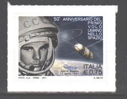 Italy 2011 MNH Gagarin - 6. 1946-.. Repubblica