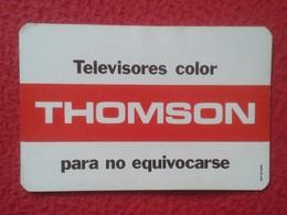 SPAIN CALENDARIO DE BOLSILLO CALENDAR 1979 TELEVISORES COLOR THOMSON TV TELEVISION TELE TELEVISOR ESPAGNE VER FOTOS..... - Calendarios