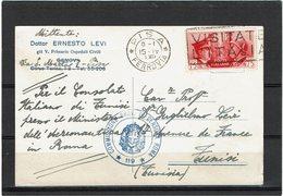 LCTN59/LE/PM - ITALIE CP PISA / TUNIS 15/4/1941 CENSURE - 1900-44 Victor Emmanuel III.