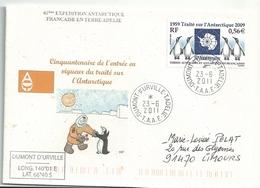 YT 551 - Traité Sur L'Antarctique - Manchots - Dumont D'Urville - Terre Adélie - 23/06/2011 - Terres Australes Et Antarctiques Françaises (TAAF)