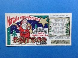 BIGLIETTO LOTTERIA GRATTA E VINCI USATO L. 2500 NATALE CON LA FORTUNA - Biglietti Della Lotteria