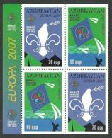 AZERBAIJAN 2007 SCOUTS SCOUTING EUROPA OMNIBUS TETE BECHE SET MNH - Azerbaïjan