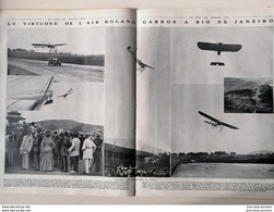 1912 ROLAND GARROS - VIRTUOSE DE L'AIR À RIO DE JANEIRO - LA VIE AU GRAND AIR - Livres, BD, Revues