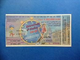 1993 BIGLIETTO LOTTERIA EUROPEA E NAZIONALE MARATONA D'ITALIA CARPI - Biglietti Della Lotteria