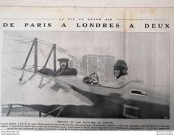1912 AVIATION - DE PARIS À LONDRES À DEUX - PREVOTS ET SANTONI - ISSY LES MOULINEAUX - Journaux - Quotidiens