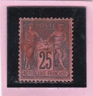 SAGE N° 91   - CACHET ROUGE DES IMPRIMES    - REF 1602 - 1876-1898 Sage (Type II)