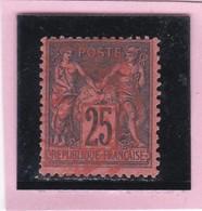 SAGE N° 91   - CACHET ROUGE DES IMPRIMES    -  1602 - 1876-1898 Sage (Tipo II)