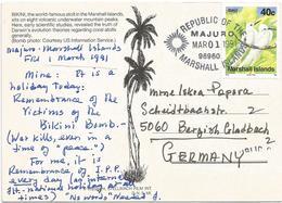 Marshall Is 1991 Majuro White Tern Gygis Alba Bikini Atomic Bomb Atoll Viewcard - Marshall
