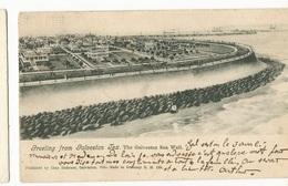 CPA,Précurseur ,USA, Greeting  From Galveston , Tex- Ed . Chas Dafermer,1897,Dos Simple - Galveston