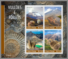 SAO TOME 2019 MNH Fossils Fossilien Fossiles M/S - OFFICIAL ISSUE - DH1948 - Fossili
