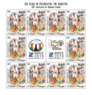 SAO TOME 2019 MNH Mahatma Gandhi M/S - OFFICIAL ISSUE - DH1948 - Mahatma Gandhi