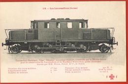 Les Locomotives Suisses  N° 114- Locomotive Electrique Type Simplon- Winterthur-Scans Recto Verso- - Materiale
