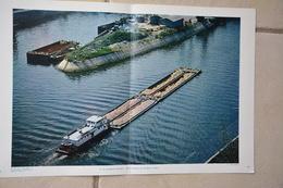 Ensemble De 6 Documents Photographiques Sur Les Transports Fluviaux Sur La Seine-peniches-pousseurs Etc...voir Scans - Boats