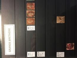 GRANDE BRETAGNE  2 Albums (60p + 16p) Plus De 1200 Timbres - Colecciones (en álbumes)