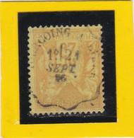 SAGE N° 92   - CACHET A DATE  CONVOYEUR LIGNE  TOURCOUING à  ????   -  21 SEPT 1886   - REF 1602 -cachet Centré - 1876-1898 Sage (Type II)