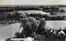 WOODBASTWICK RANWORTH BROAD FROM CHURCH TOWER AN OLD REAL PHOTO POSTCARD #98908 - England