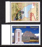 Azerbaïdjan Azerbaycan 0584/85 Usage Courant Surchargé - Azerbaïdjan