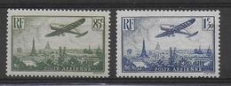 1936 - POSTE AERIENNE - YVERT N° 8/9 ** MNH - COTE = 35 EUR. - Airmail