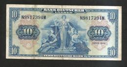 Germania / Deutschland - Bank Deutscher Lander - 10 Deutsche Mark (1949) - 10 Deutsche Mark