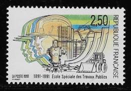 N° 2726 CENTENAIRE DE L'ECOLE SPECIALE DES TRAVAUX PUBLICS NEUF ** TTB COTE 1,20 € - France