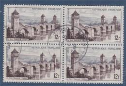 =  Pont Valentré à Cahors 12f Bloc De  4 Oblitérés N°1039 - Usati