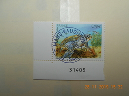 FRANCE 2014   YTN° 4903   TORTUE VERTE  Timbre Neuf  Cachet Rond  NUMEROTE - Frankreich