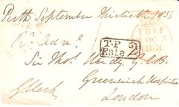 UK Free Frank Front - Sir George Clerk - T.P.Rate 2 - Stamps