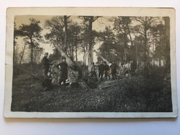 Carte Photo D'artilleurs Avec Canon De 155 Hamonville Octobre 15 1914-18 1 - 1914-18
