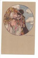 22857 -  Carnaval Amoureux  Arlequin Et Femme  Signé Zandrino - Zandrino