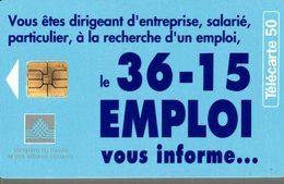 TELECARTE 50 UNITES 36-15 EMPLOI - Telecom Operators