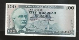 ISLANDA - NATIONAL BANK - 100 KRONUR (1961) - Islanda
