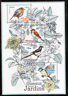 France 5239 5241 2018 Oiseaux Des Jardins  F   Neuf TB ** MNH Sin Charnela Prix De La Poste 3.2 - Frankreich