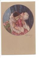 22858 -   Amoureux  Arlequin Et Femme  Signé Zandrino - Zandrino