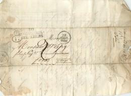 LETTRE  1830 De Sainte Colombe Sur L'hers   à Foix Marque Linéaire   2scans - 1801-1848: Précurseurs XIX