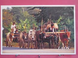 Visuel Très Peu Courant - Laos - Native Vehicle In Laos - Recto Verso - Laos