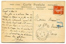 RC 14666 FRANCE / ALGERIE TIMGAD CONSTANTINE SUR 10c SEMEUSE TB - Postmark Collection (Covers)