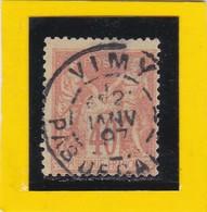 SAGE N° 94   - CACHET A DATE  - VIMY  / PAS-de-CALAIS  - 20 JANV.1897 -    -REF  1602 - Bon Centrage - 1876-1898 Sage (Type II)