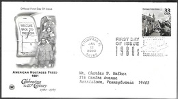 US  2000  Celebrate The Century Iran Hostages Freed 1981 On FDC - Iran
