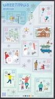 (ja1356) Japan 2019 Greetings Winter 84y MNH Ski Deer Fox Skate Fishing Dog - Unused Stamps