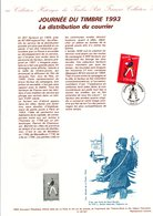 DOCUMENT FDC 1993 JOURNEE DU TIMBRE TATI - Documents Of Postal Services
