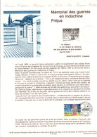 DOCUMENT FDC 1993 MEMORIAL DES GUERRES D'INDOCHINE A FREJUS - Documentos Del Correo